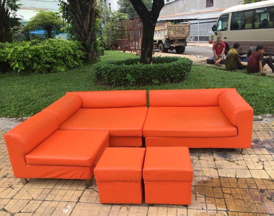 Thanh lý bộ sofa cam cũ cao cấp